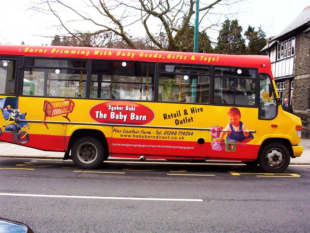 File:Baby Barn, Llanfairpwllgwyngyll, Wales, advert bus, 6 ...