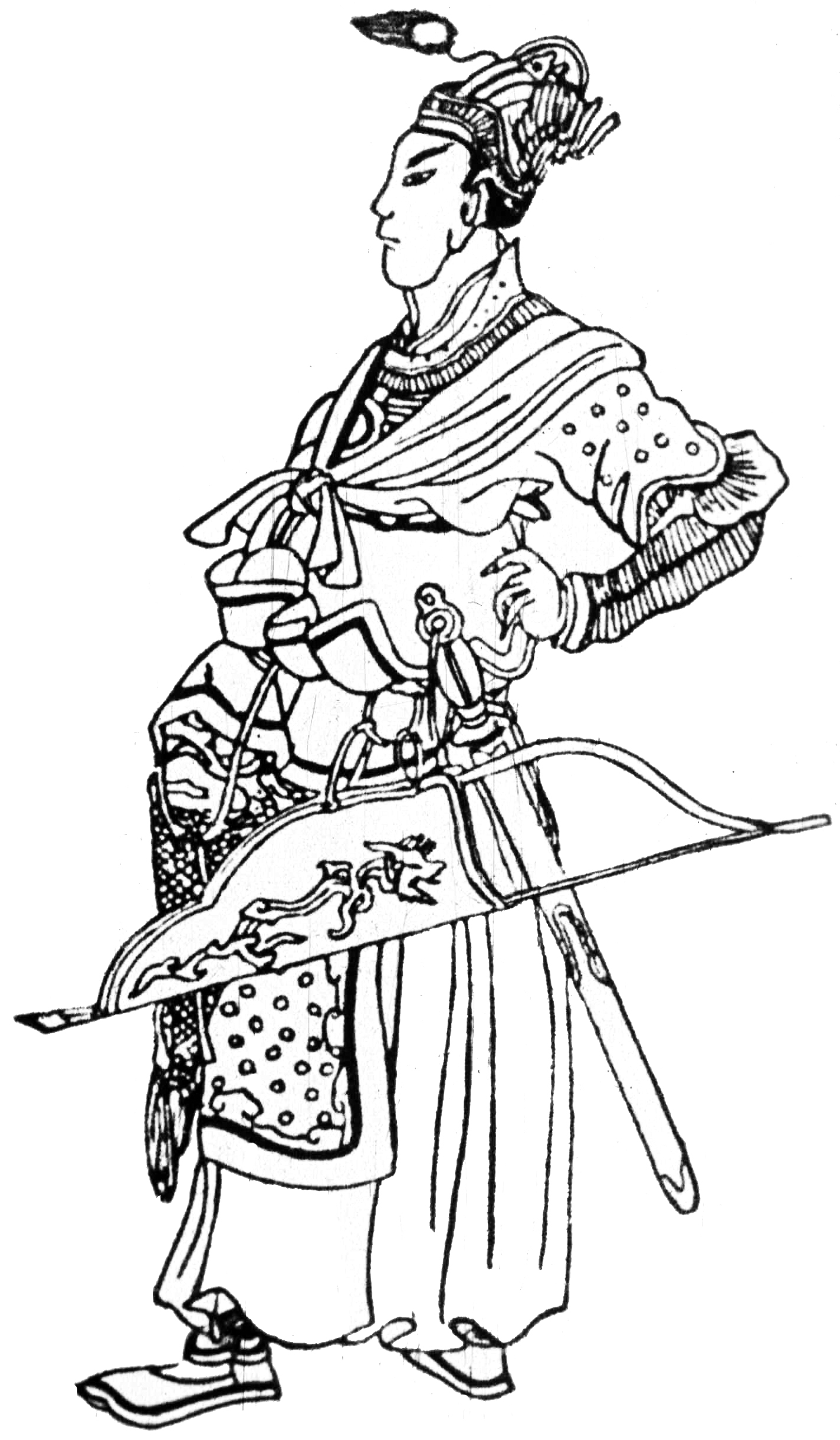 14th-century Chinese drawing of young Batu Khan Batu.gif