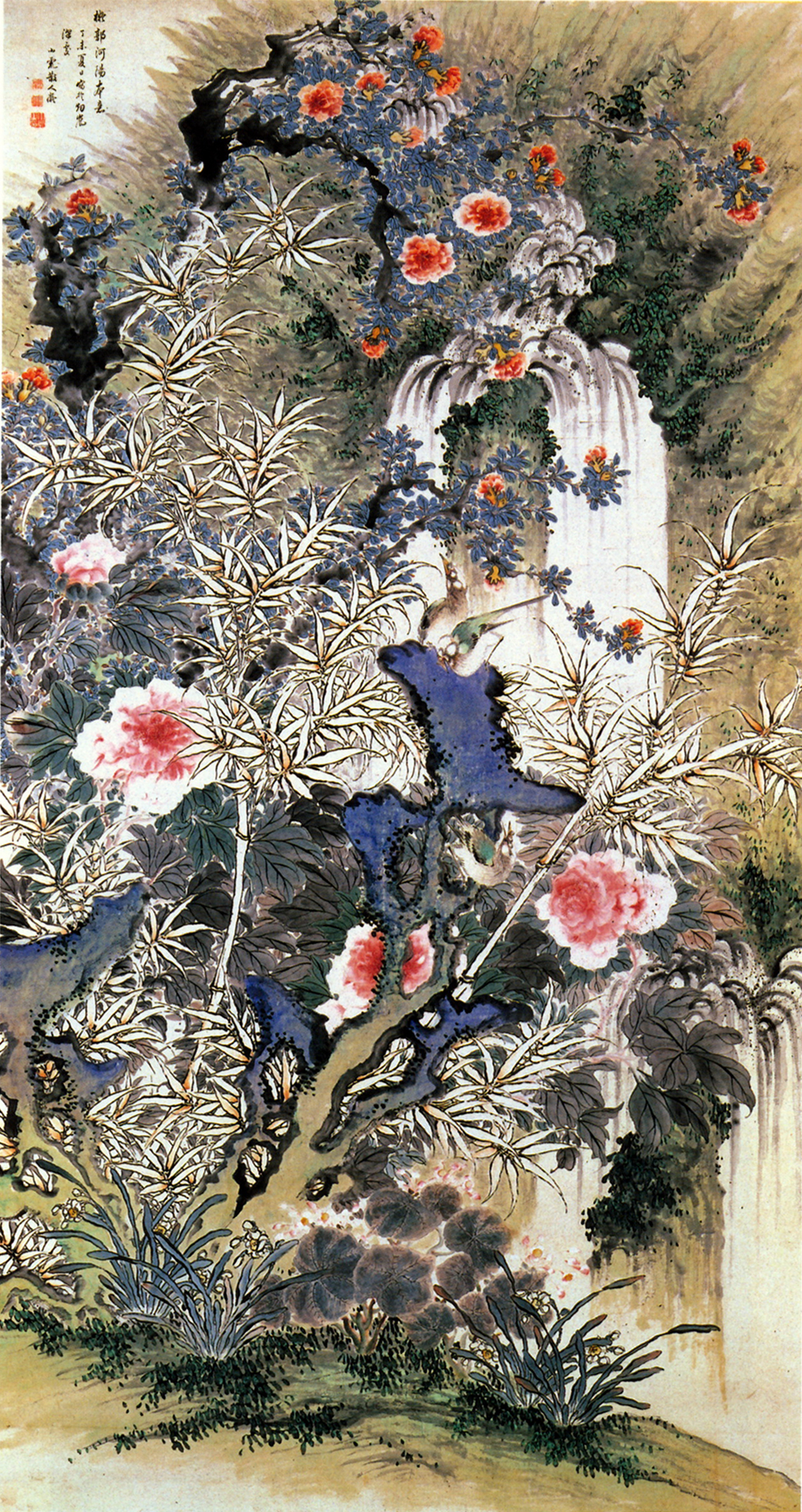 Filebirds and flowers colors on paper hanging scrol the museum of filebirds and flowers colors on paper hanging scrol the museum of modern art shiga mightylinksfo