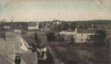 Thomasville before the fire of 1899, looking east down Wilson Avenue. Birdseye view of Thomasville 1880s.jpg