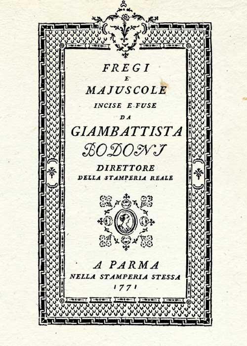 Giambattista Bodoni Work