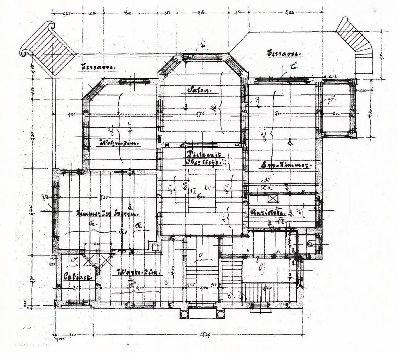 file bonn villa finkler erster entwurf 1900 grundriss wikimedia commons. Black Bedroom Furniture Sets. Home Design Ideas