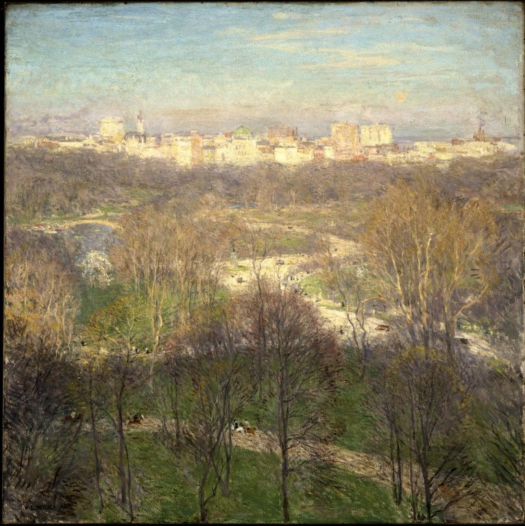 Brooklyn Museum - Early Spring Afternoon--Central Park - Willard Leroy Metcalf - overall.jpg