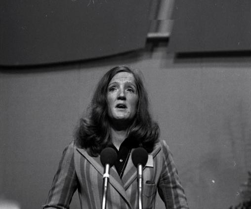 Birgit Breuel 1973 auf dem CDU-Bundesparteitag