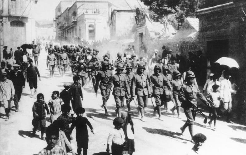Deutsche Soldaten in Jerusalem