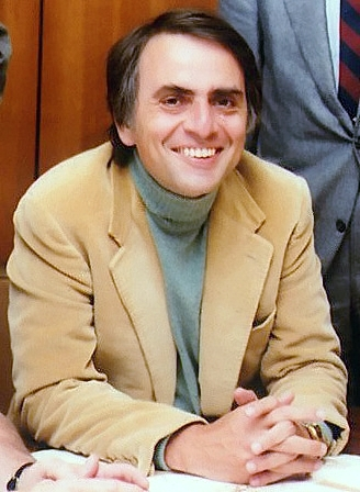 Carl Sagan, hired by Gold after Sagan was denied tenure at Harvard University in 1968 Carl Sagan Planetary Society.JPG