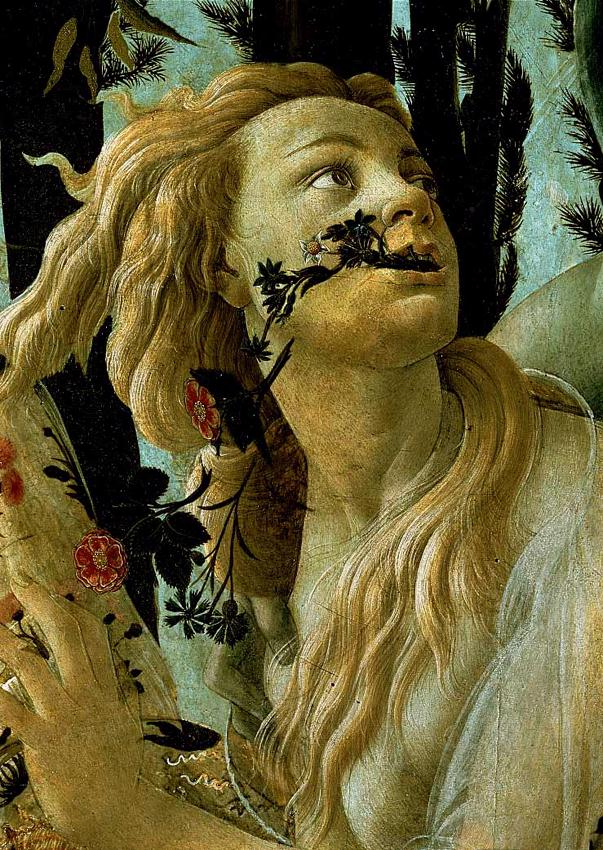close-up of the goddess Chloris from Boticelli...
