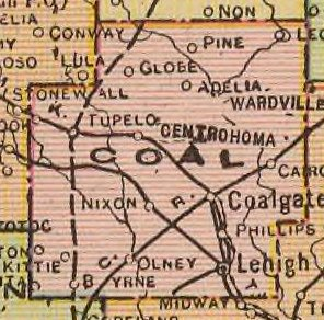 Map of Coal County, 1909