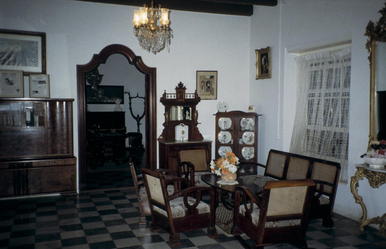 filecollectie nationaal museum van wereldculturen tm 20034648 het interieur van landhuis brievengat willemstad