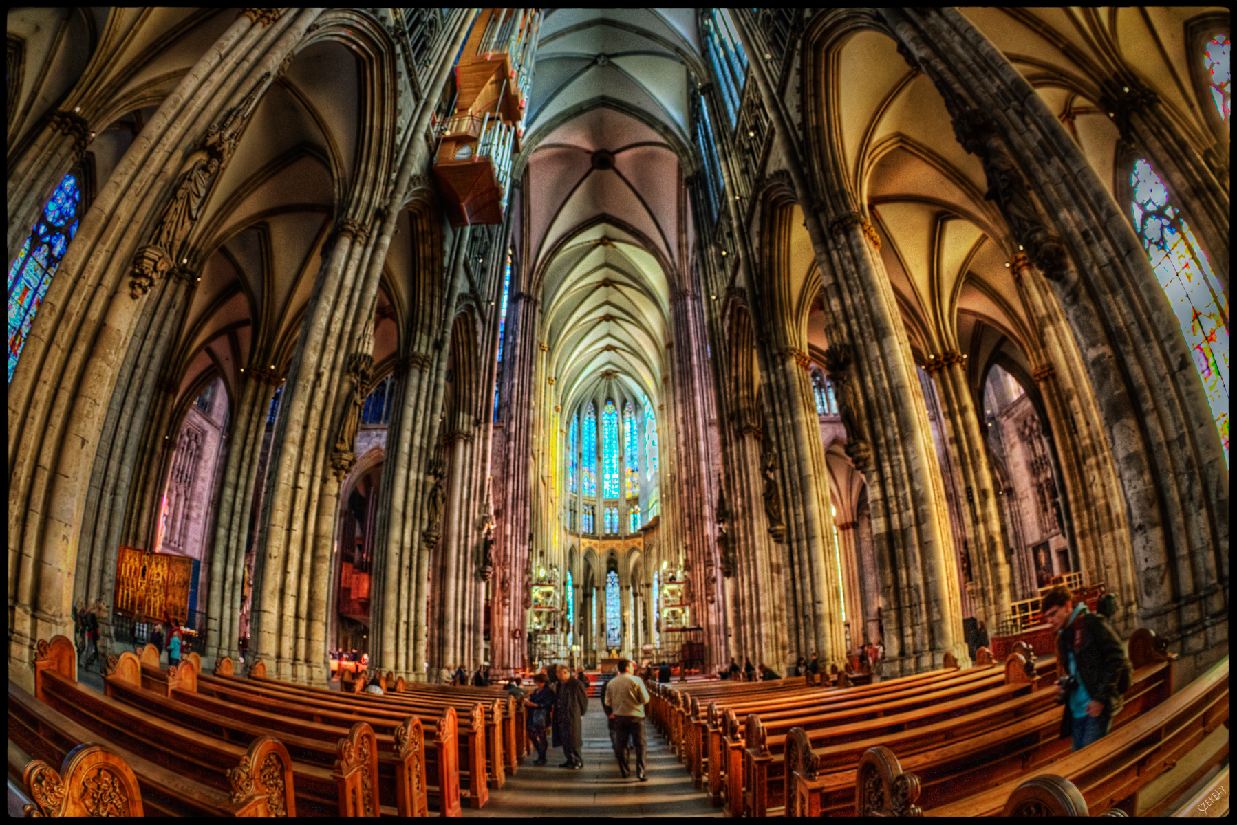 Photograph of the Cologne Cathedral in Cologne, Germany.