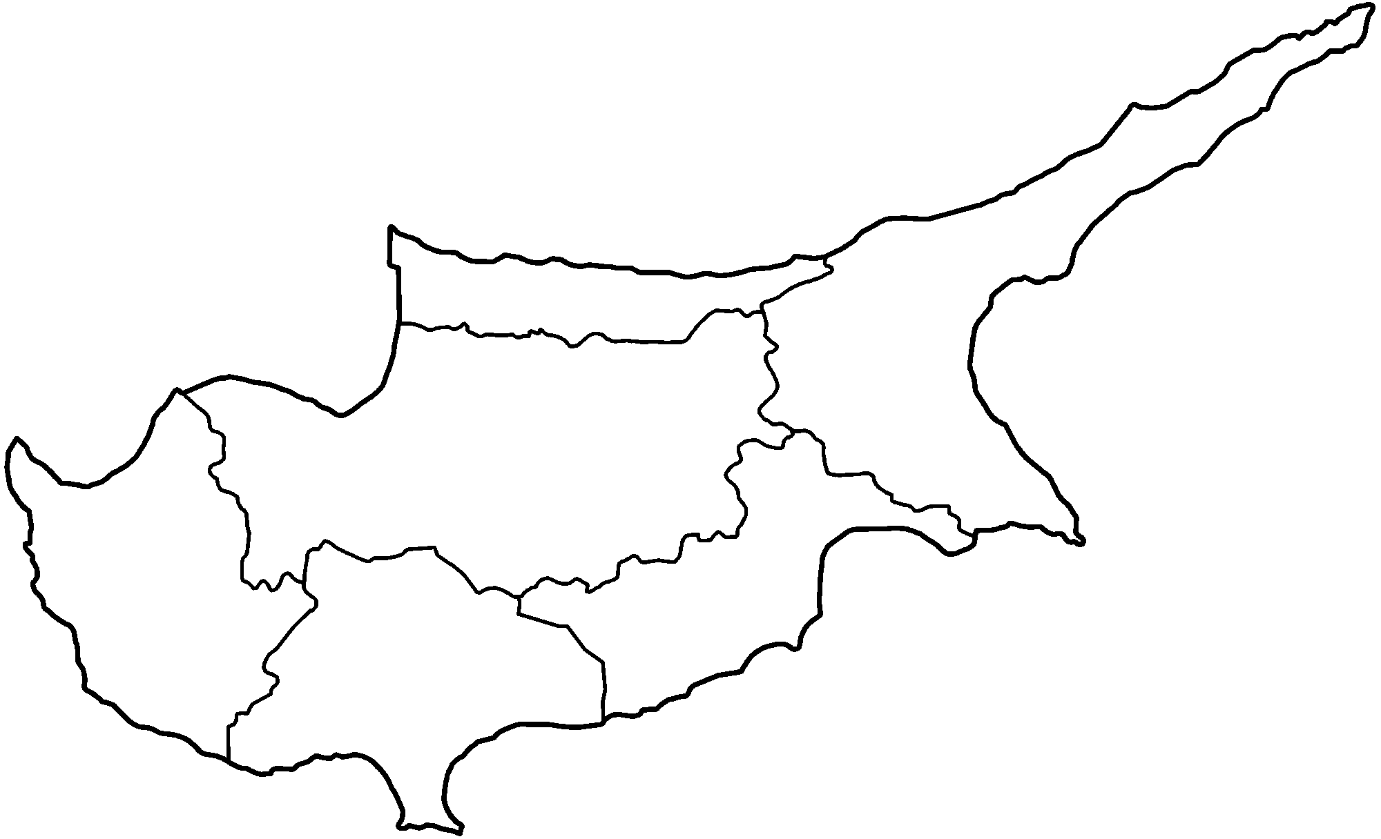 FileCyprus Districts Only Blankpng Wikimedia Commons - Cyprus blank map