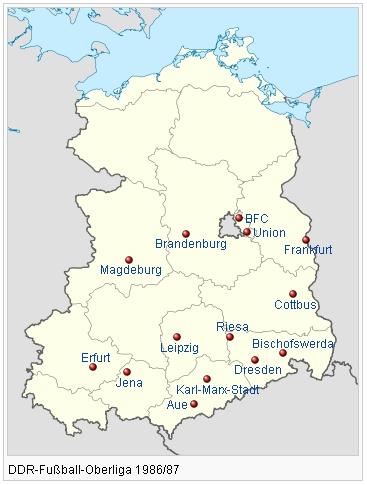 BFC Dynamo Berlin OL 86//87 BSG Energie Cottbus