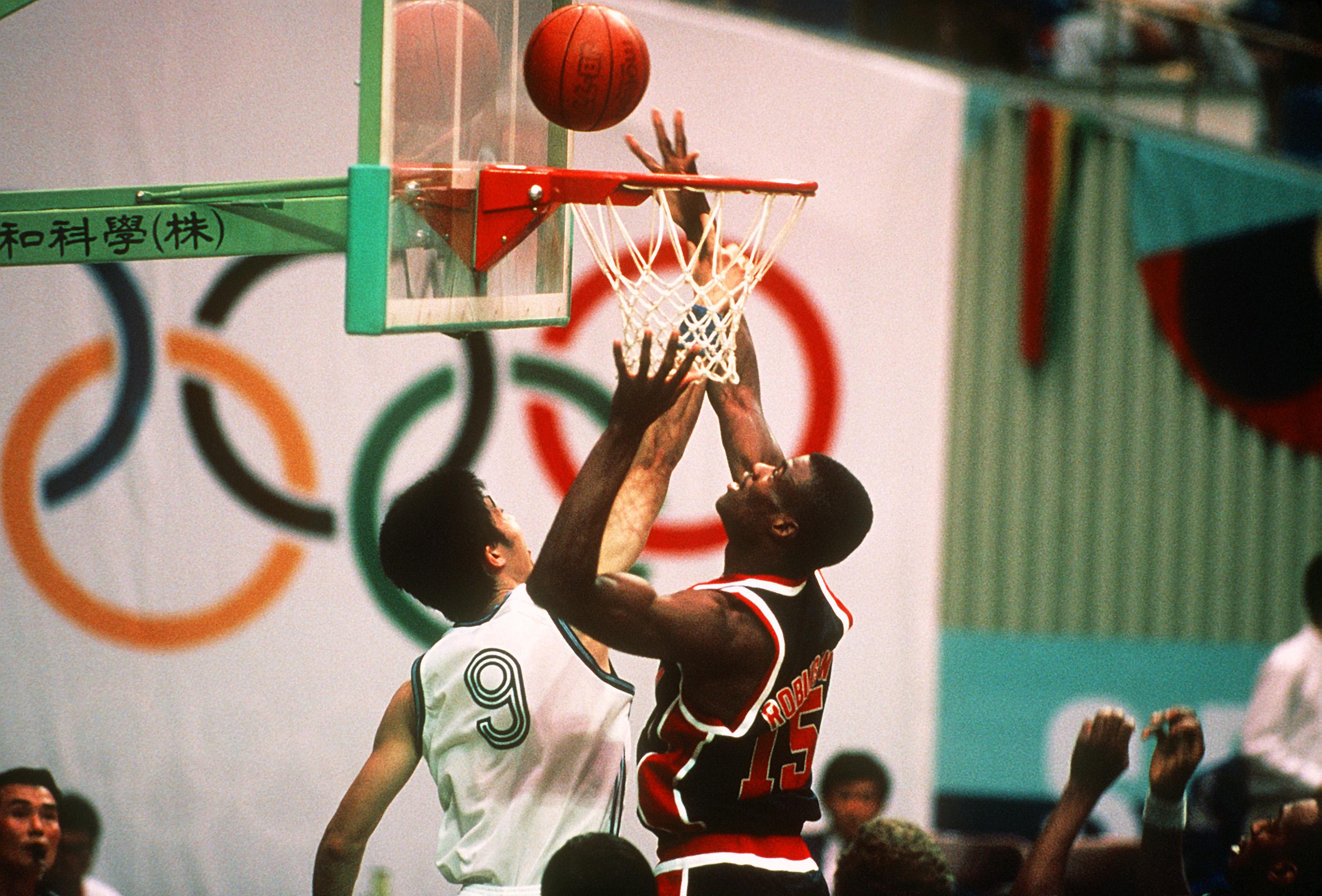 File David Robinson at 1988 Summer Olympics vs China 1 JPEG