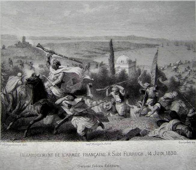 LE DEBARQUEMENT A SIDI-FREDJ (ex ferruch) dans Histoire de la revolution algerienne :1954/1962 Derbarquement_de_l_armee_fran%C3%A7aise_a_sidi_ferruch_14_juin_1830