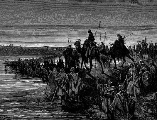 "Gustave Dore, ""The Children of Israel Crossing the Jordan"""
