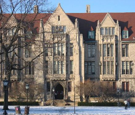 Eckhart Hall at the University of Chicago. Beginning with the arrival of Henry Nelson Wieman in 1927, Chicago's Divinity School become closely associated with Whitehead's thought for about thirty years. Eckhart Hall.jpg