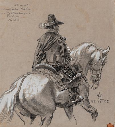 Schwedischer Reiter aus Rothenburg o.d.T. Ernst Würtenberger, Oct 1883