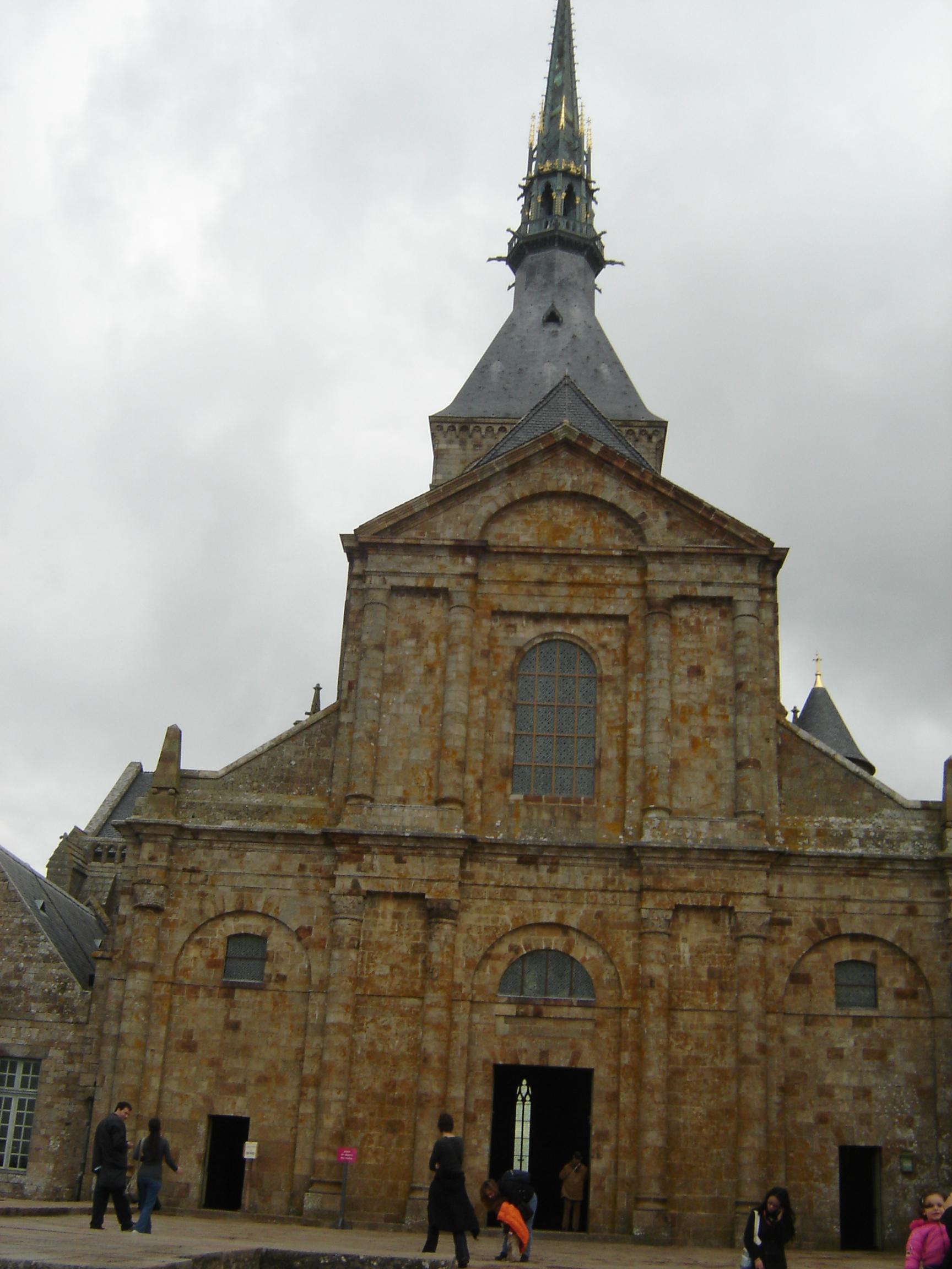 File Facade De L Abbatiale Du Mont Saint Michel1 Jpg Wikimedia Commons