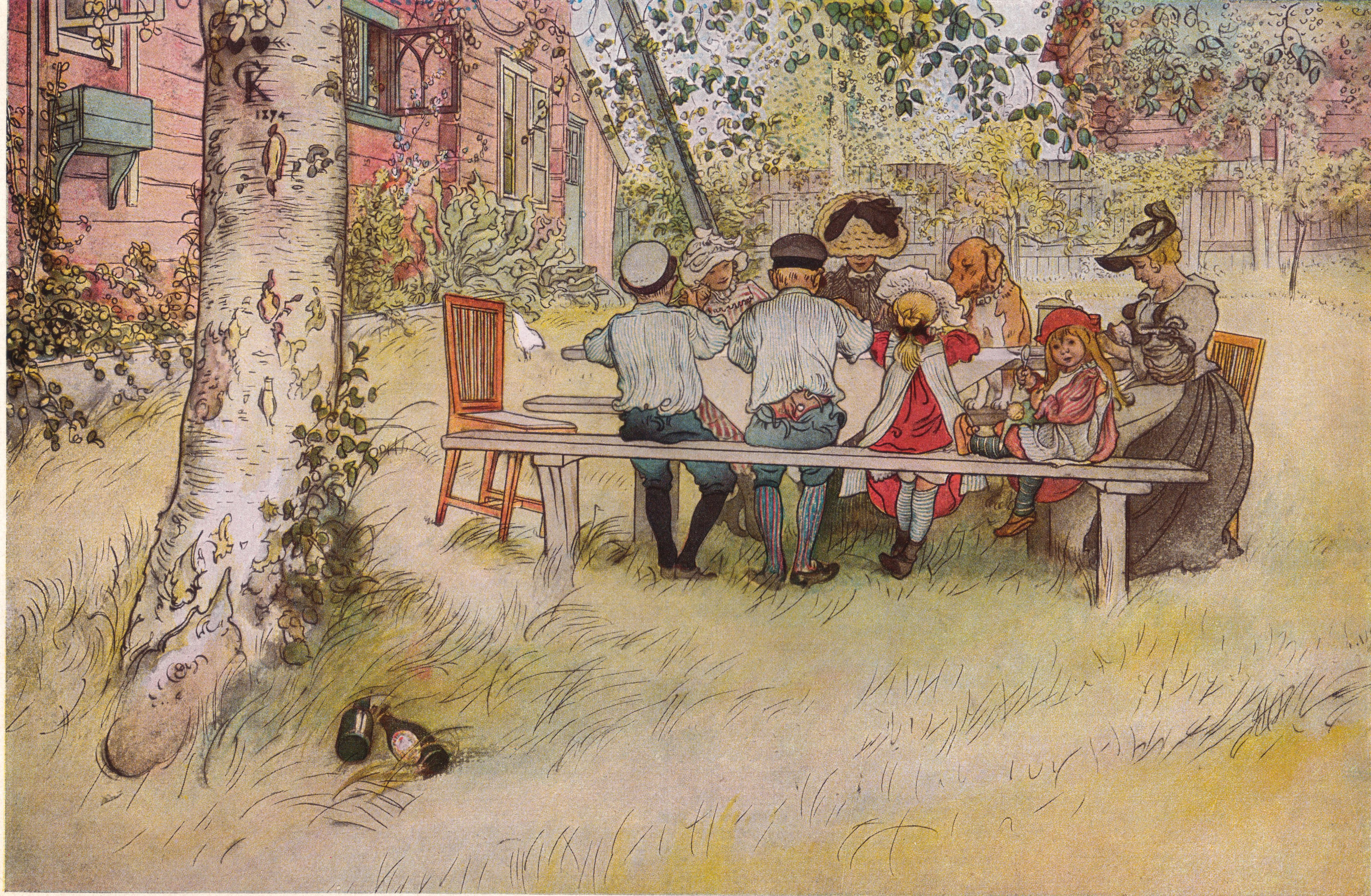 Frukost under stora björken av Carl Larsson 1896.jpg