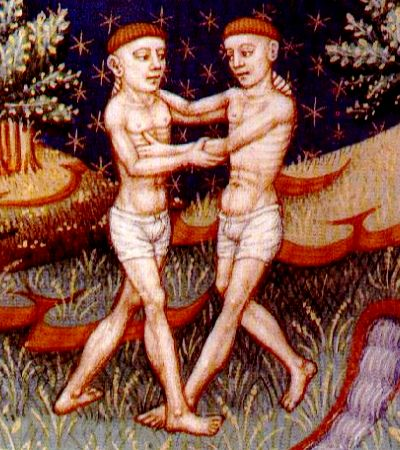 The Twins of Gemini, from a 5th century Norman book on astrology