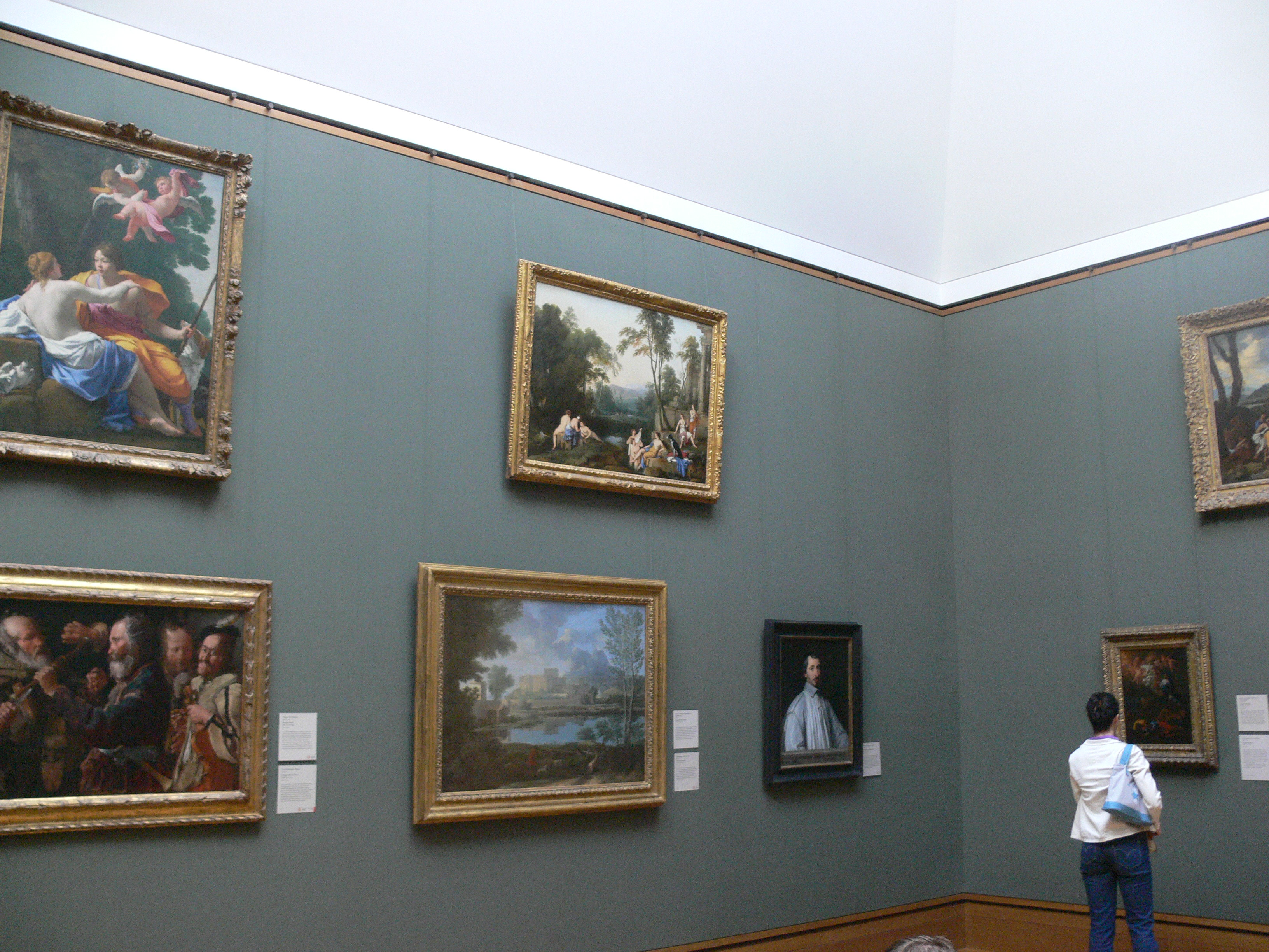 Old Paintings In A Room