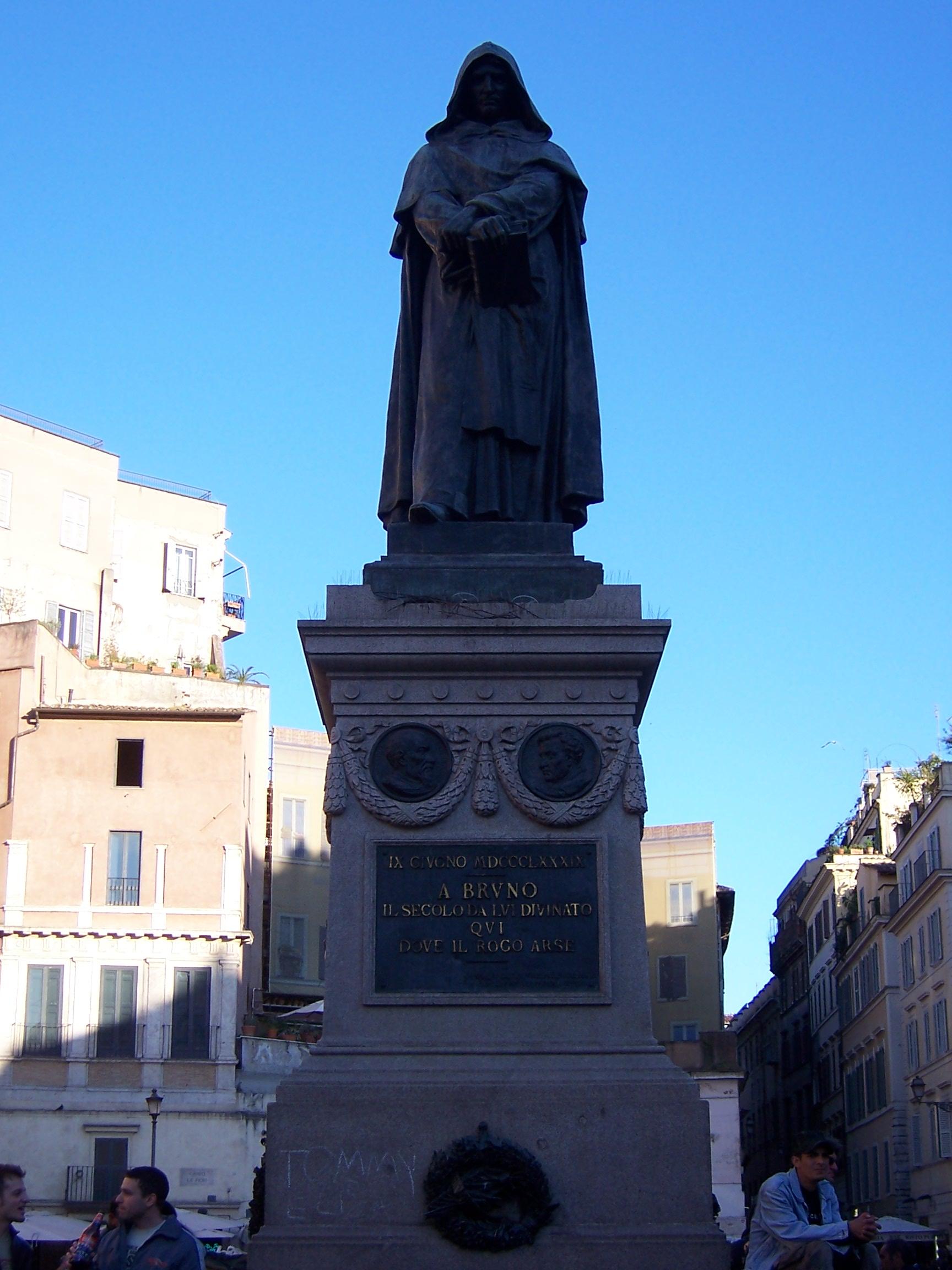 Statue of Giordano Bruno, Campo de' Fiore, Rome, Italy
