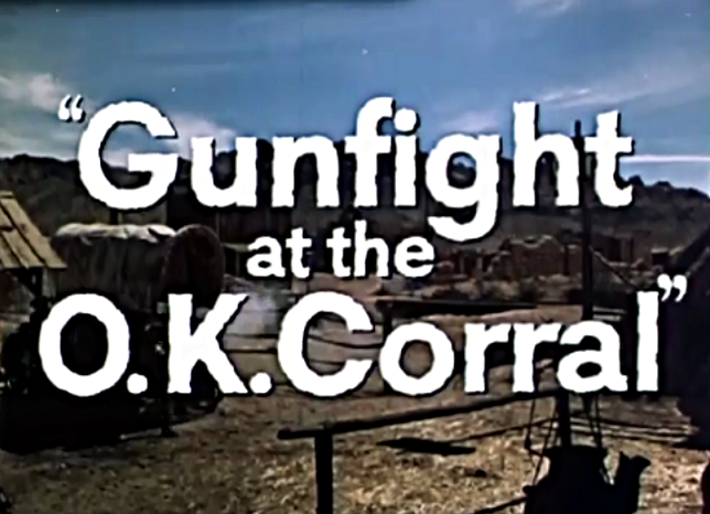 the gunfight at o k corral Documents from the coroner's inquiry into the famous gunfight at ok corral were lost until march 31, when two clerks at the cochise county courthouse in arizona found an envelope in a storage closet the 36 pages will be published on the internet within a week.