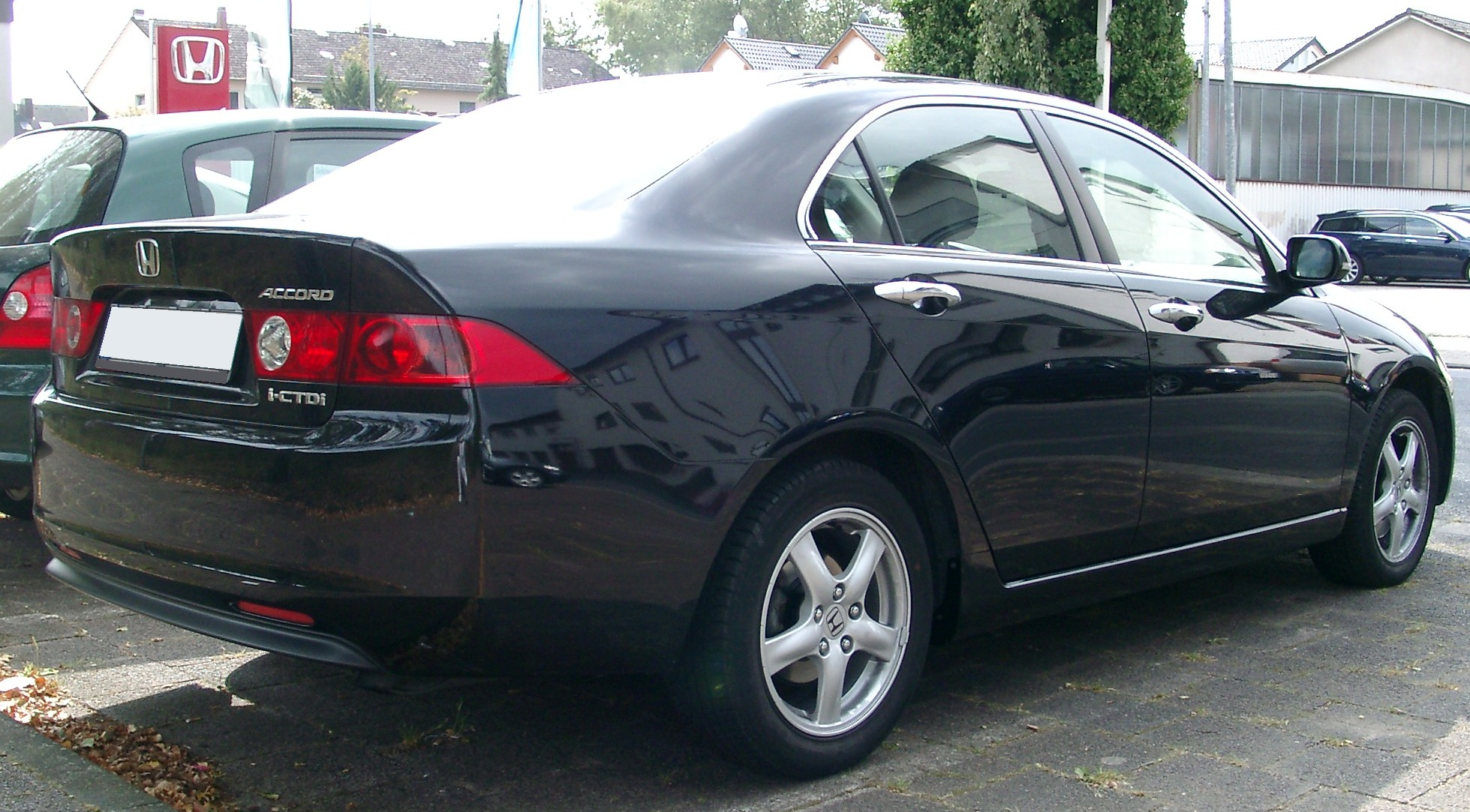 File Honda Accord Rear 20070831 Jpg Wikimedia Commons