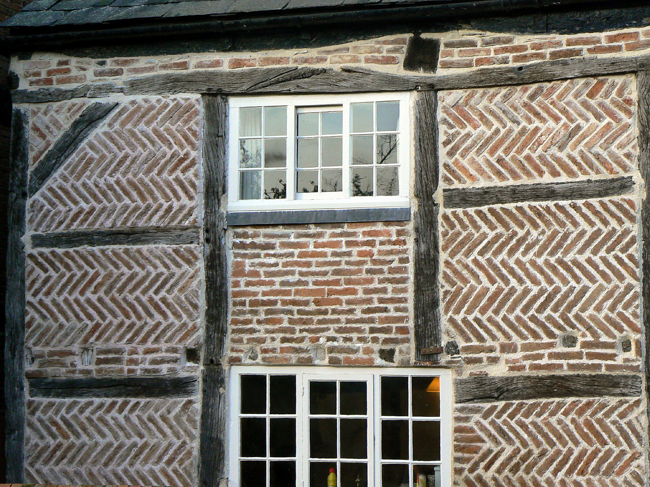 File Hoton Leicestershire Detail Of Herringbone Brick