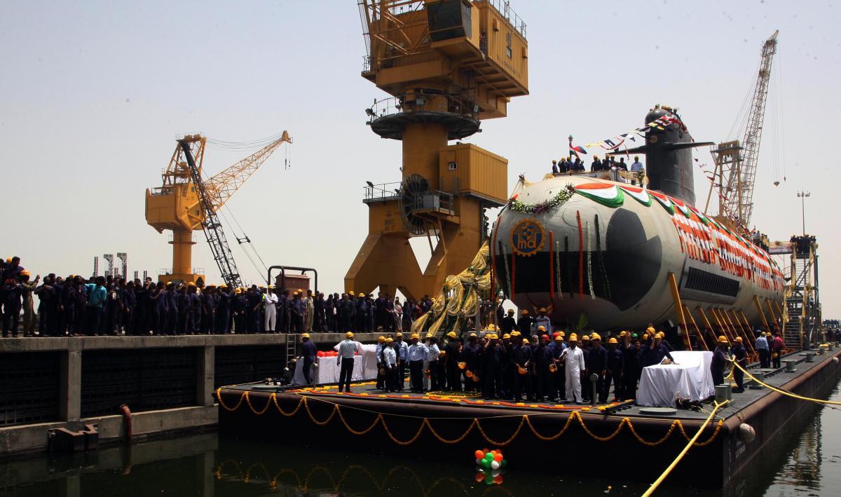 Indias First indigenously built Scorpene submarine INS Kalvari delivered to Navy