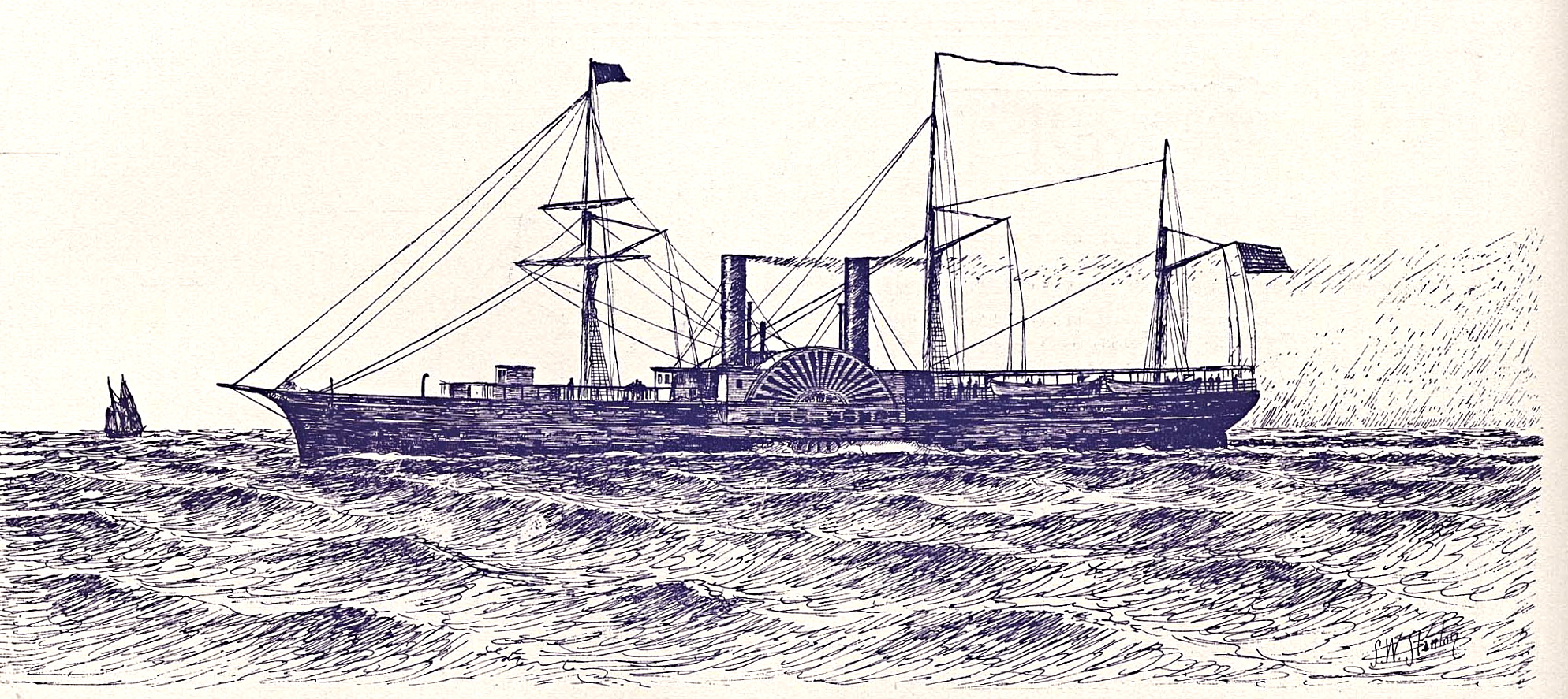 1855 : The Steamship Illinois is First Ship To Pass through Sault Ste. Marie Locks