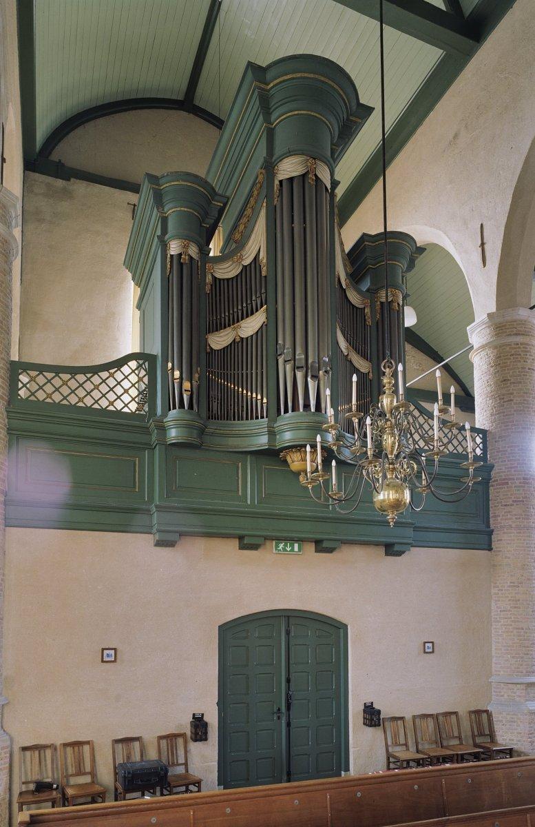Bestand:Interieur, aanzicht orgel, orgelnummer 1590 - Waalwijk ...