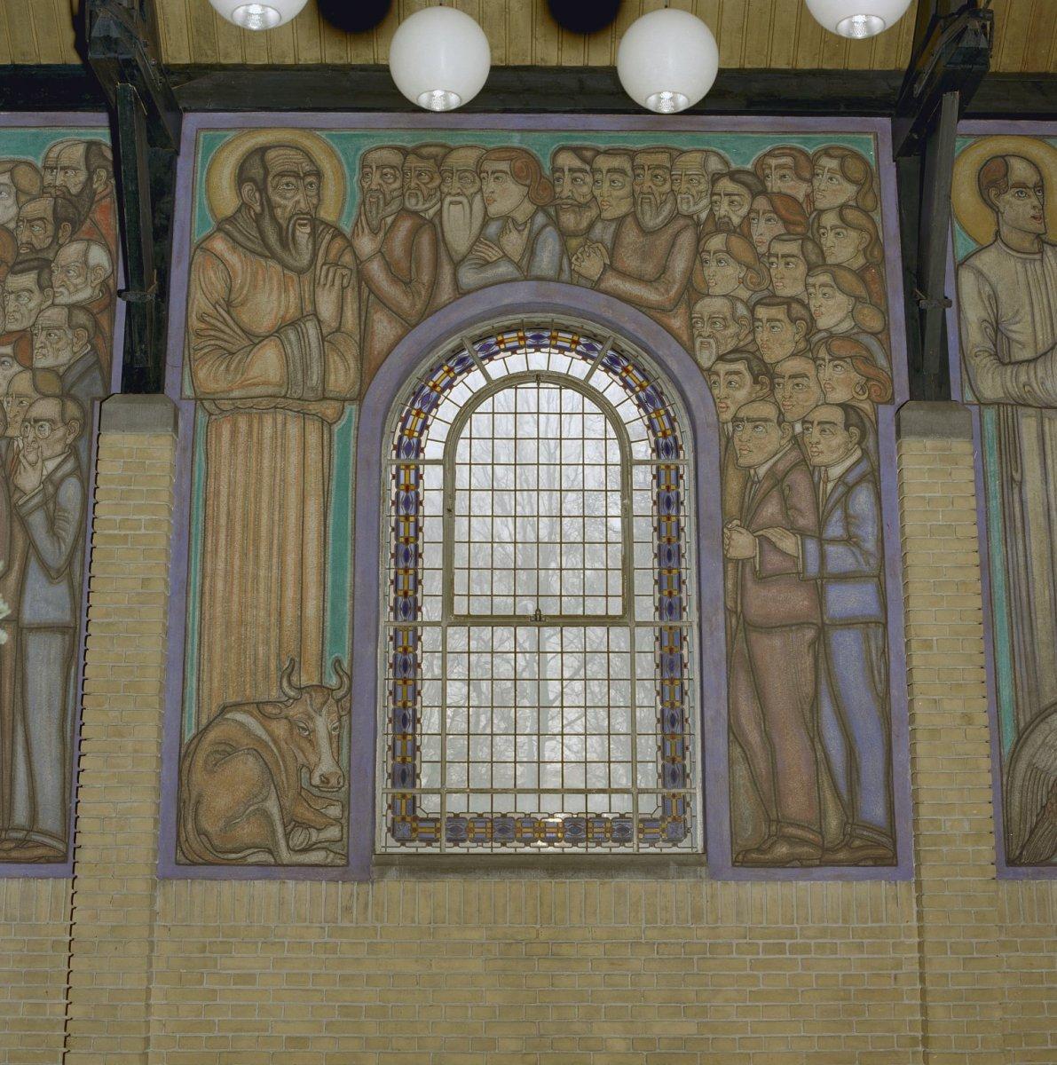 File interieur muurschildering van evangelist lucas for Interieur leiden