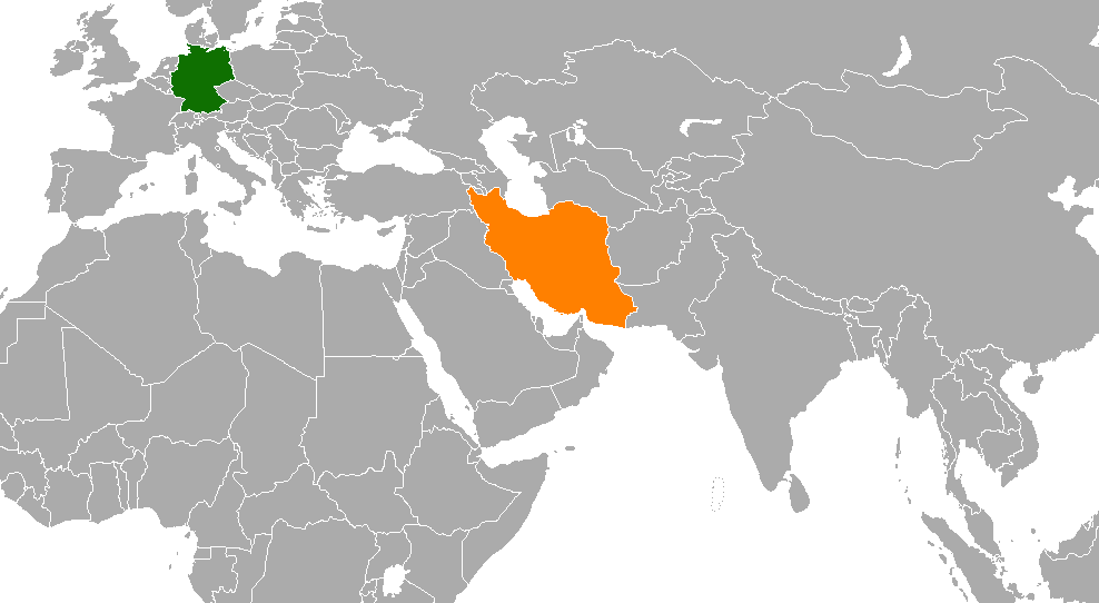 Location of germany on world map germanyu2013iran relations sciox Gallery