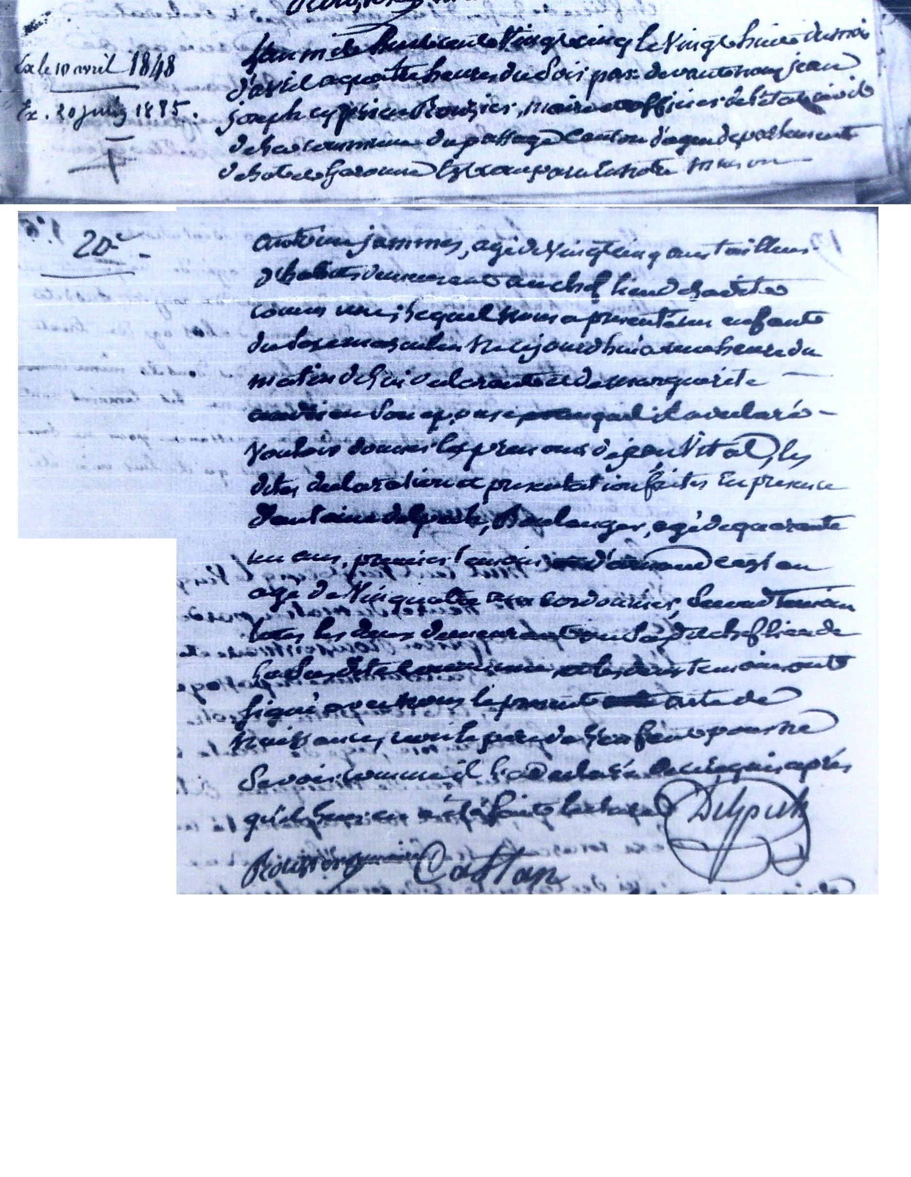 Filejammes Jean Vital Birth Certificate 1825g Wikimedia Commons