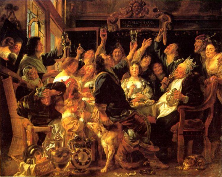 La Fête des Rois, de Jacob Jordaens, v. 1640-45 (Kunsthistorisches Museum, Vienne).