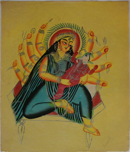 File:Kalighat Ganesha in the lap of Parvati.jpg