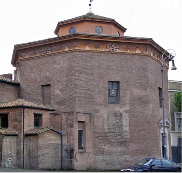 Baptisterio octogonal de San Juan Letrán (el más antiguo del cristianismo). Fuente: Wikipedia