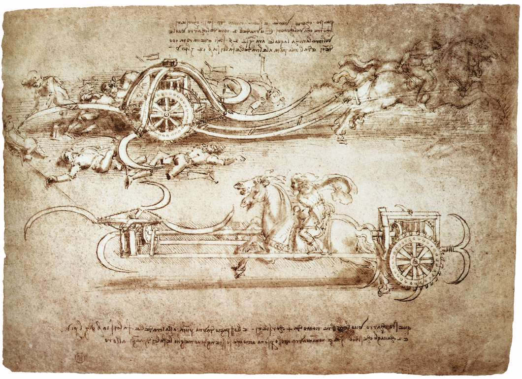 File:Leonardo da vinci, Assault chariot with scythes.jpg ...