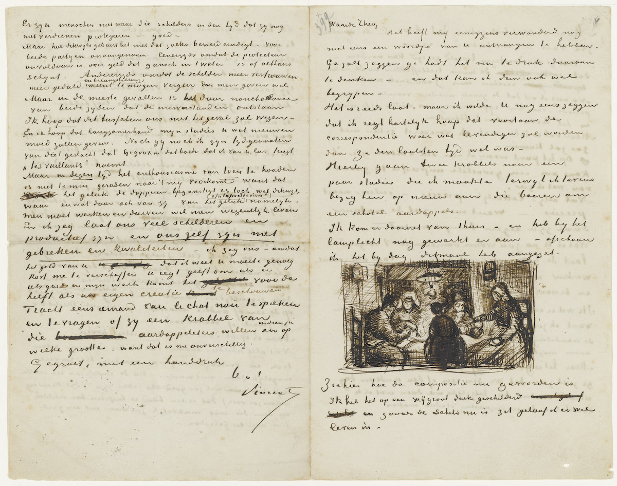 File:Letter from Vincent Van Gogh to Theo Van Gogh 9 April 1885 ...