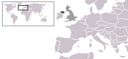 Location of Northern Ireland