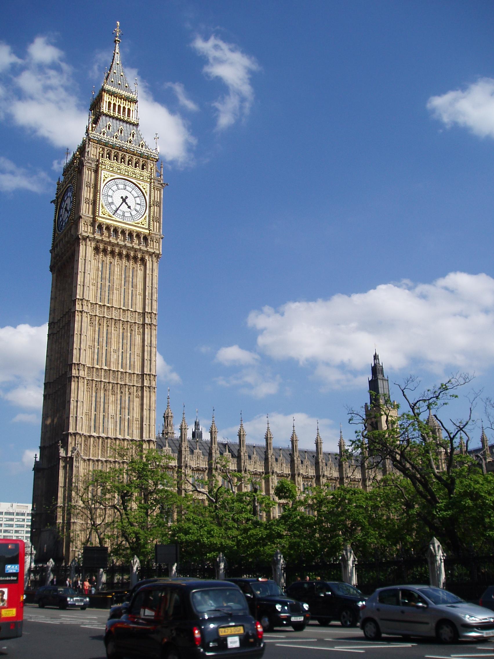 Description london big ben clocktower palace of westminster