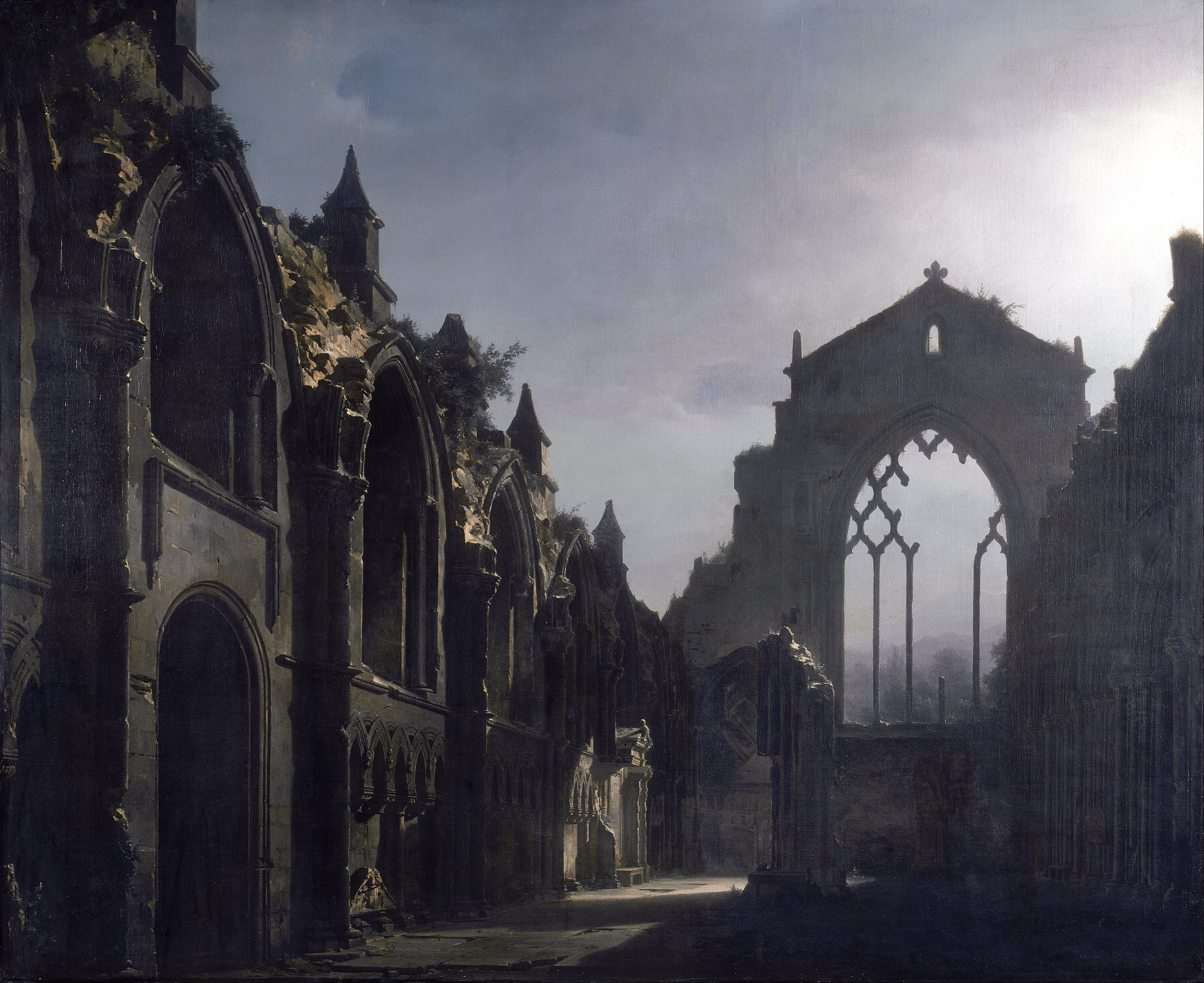 Ruins in art: Louis Daguerre, The Ruins of Holyrood Chapel,