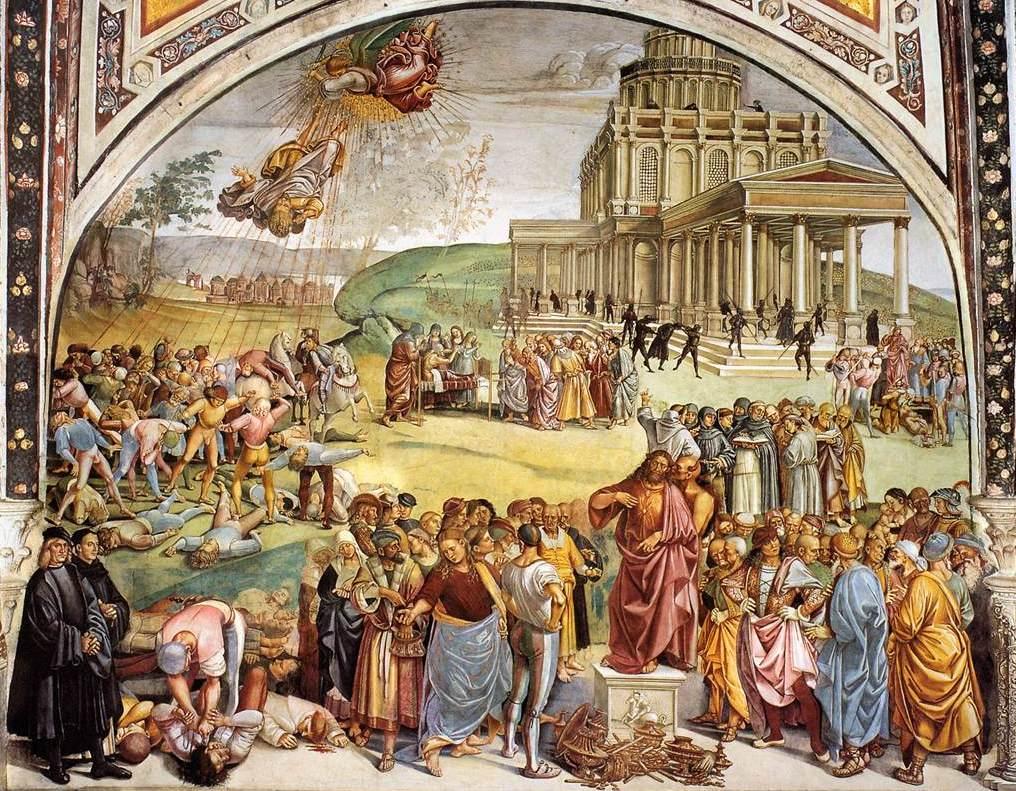 Luca Signorelli Sermon and Deeds of the Antichrist WGA21202