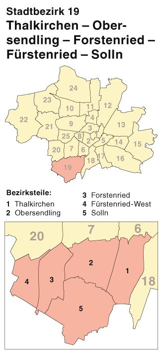 File Munchen Stadtbezirk 19 Karte Thalkirchen Obersendling