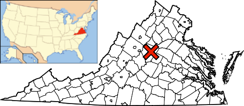 FileMap Of Virginia USA Highlighting Charlottesvillepng - Virginia on map of usa