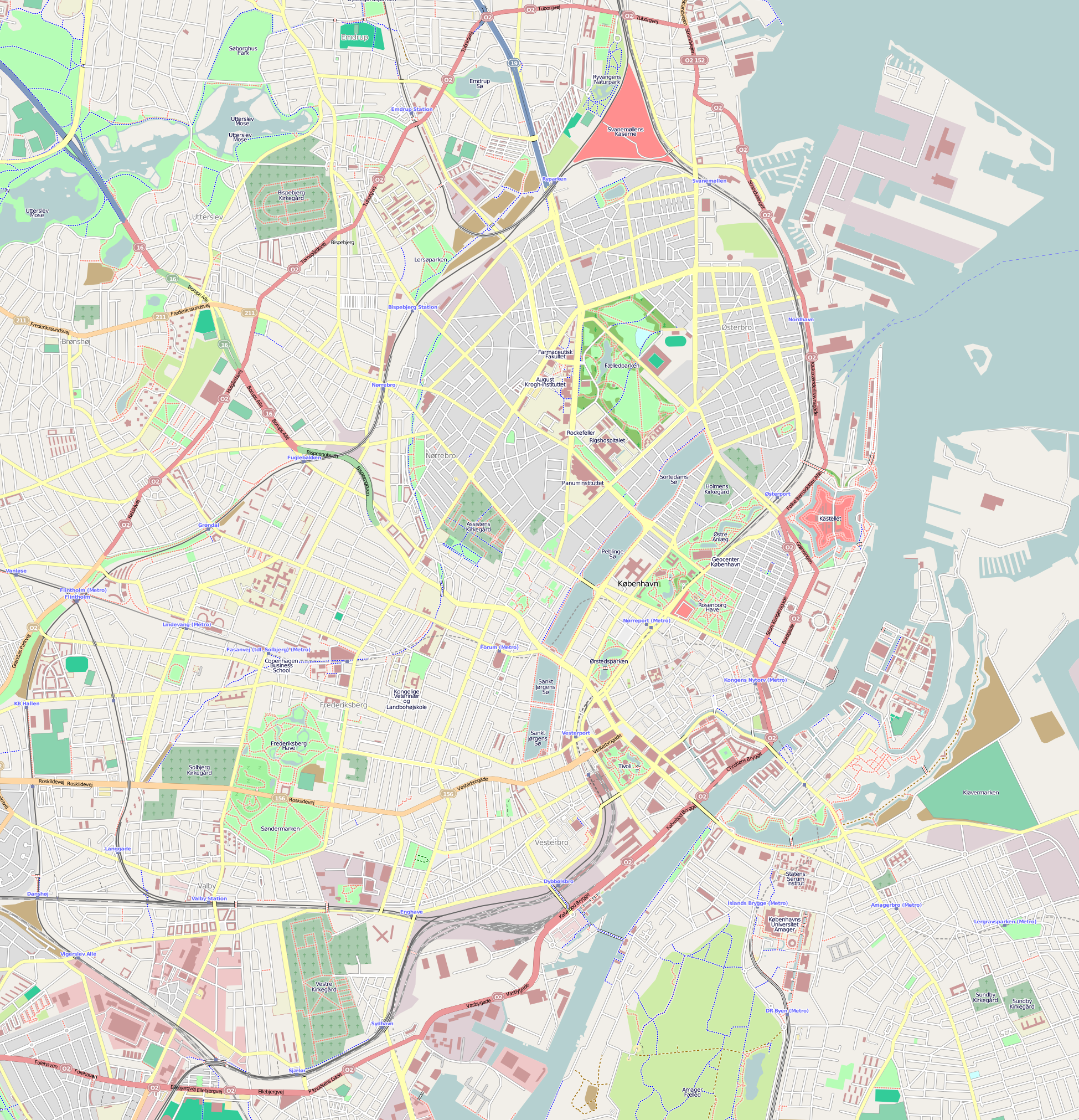 karta köpenhamn File:Map of central Copenhagen.png   Wikimedia Commons karta köpenhamn