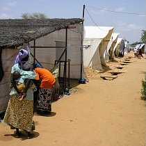 Doctors Without Borders (MSF)feeding center in Maradi, Niger during the 2005 Niger famine