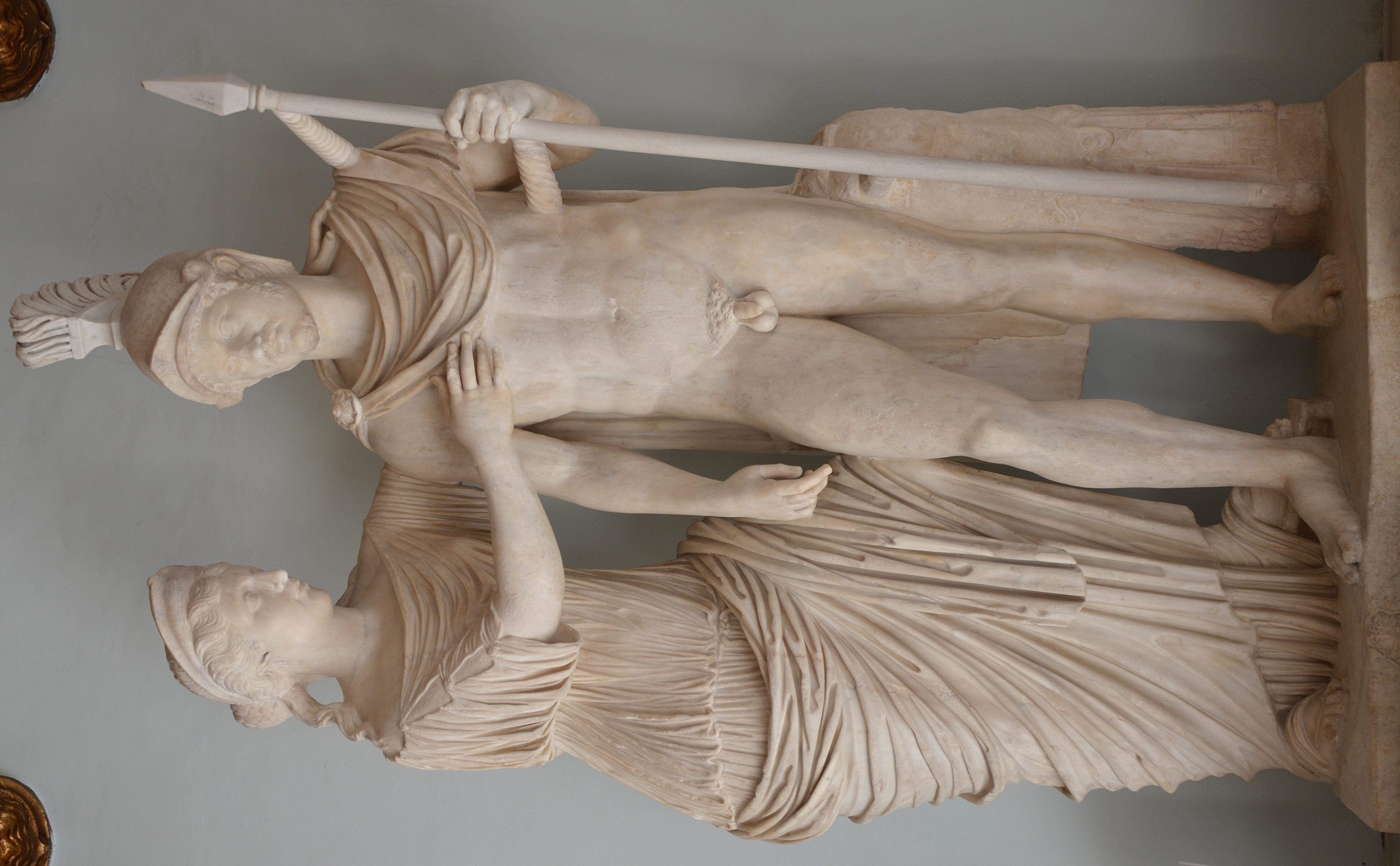 Picture of statues of Faustina and Marcus Aurelius.