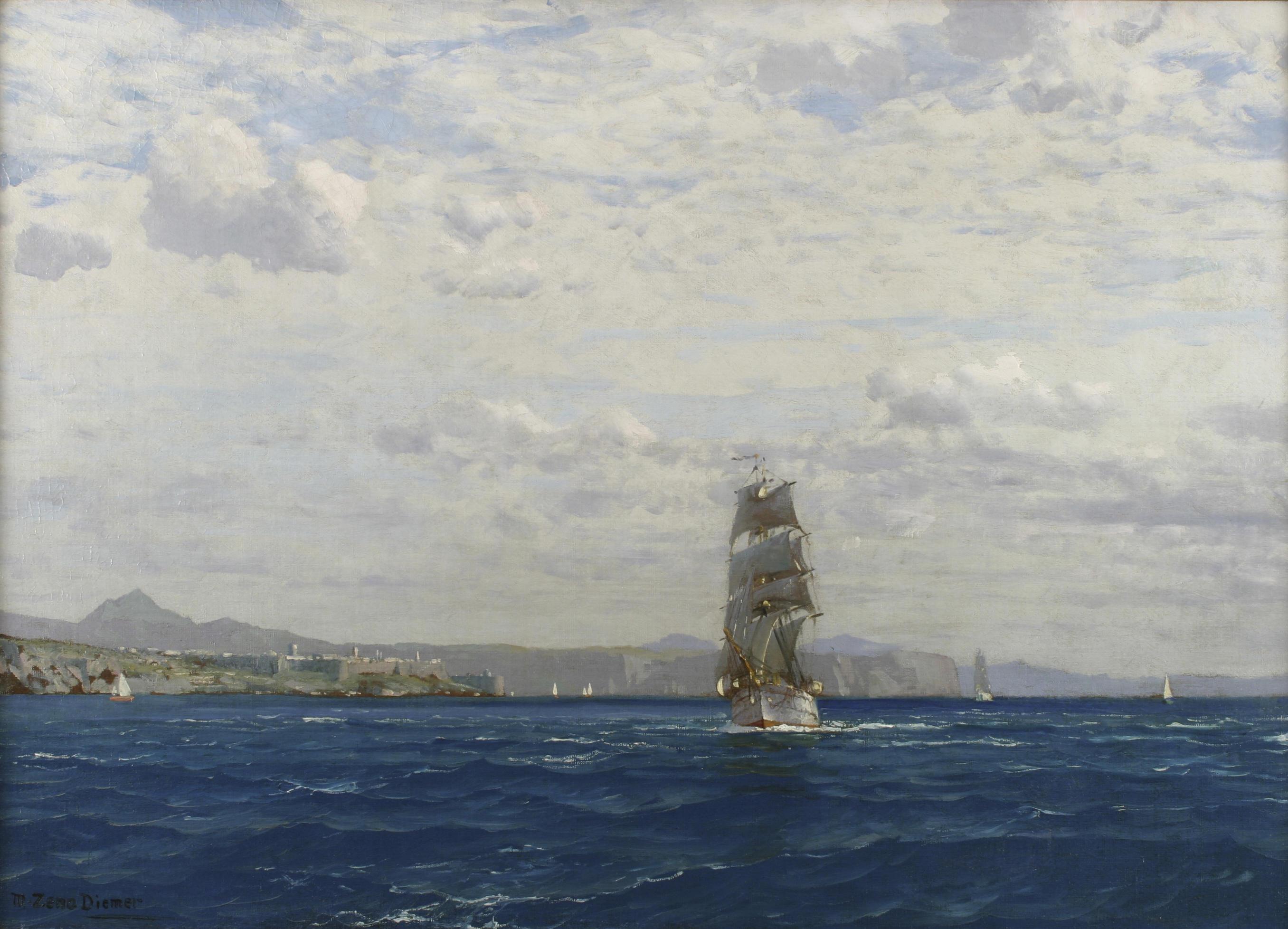 File:Michael Zeno Diemer - Sailing off the Kilitbahir ...